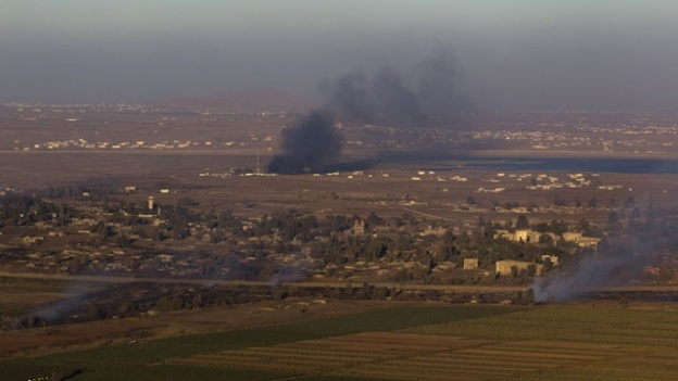Smoke Rises in Golan Heights Ronen Zvulun/Reuters